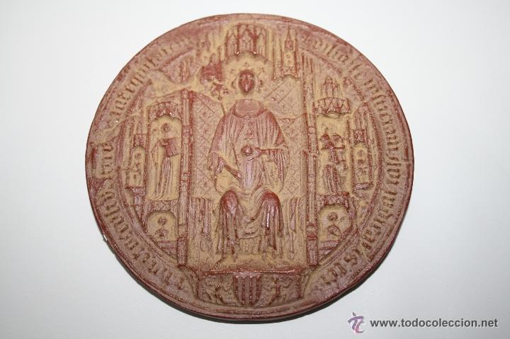 M-414. FACSÍMIL DE SELLO DE MARTIN I EL HUMANO (1399) - MUSEU D'HISTORIA DE BARCELONA - 1977 (Filatelia - Sellos - Reproducciones)