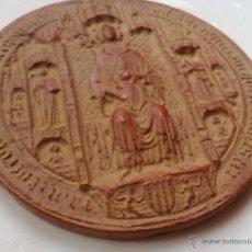 Sellos: SELLO REY MARTIN I EL HUMANO 1399 REPRODUCCION MUSEO HISTORIA DE BARCELONA 1977 ESTUCO 13 X 0,7 CM. Lote 53692921