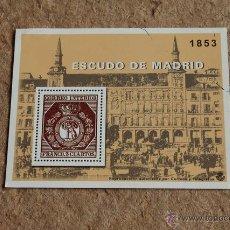 Sellos: REPRODUCCIÓN DEL SELLO ESCUDO DE MADRID. 1853. CORREO INTERIOR. FRANCO. 3 CUARTOS.. Lote 136532661