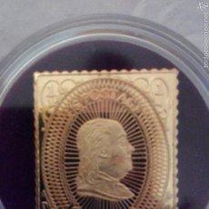 Sellos: SELLO EN PLATA CON BAÑO ORO DE LA COLECCIÓN TESOROS DE LA FILATELIA.. Lote 55777226