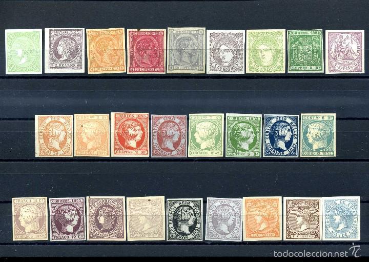 26 SELLOS CLASICOS ESPAÑOLES A IDENTIFICAR Y CATALOGAR SON DE 1800 TIEMPO DE ISABEL II - MIRAR -Nº18 (Filatelia - Sellos - Reproducciones)