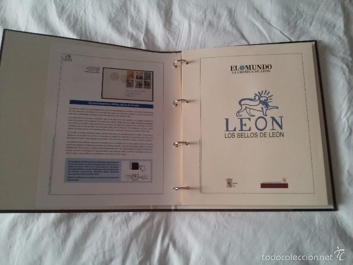 Sellos: COLECCIÓN LOS SELLOS DE LEÓN-REPRODUCCIÓN FACSIMIL DE LOS SELLOS-COMPLETA - Foto 3 - 244557435