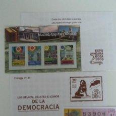 Sellos: LOS SELLOS, BILLETES E ICONOS DE LA DEMOCRACIA. SOBRE 31. Lote 64343343