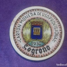 Sellos: CARTÓN MONEDA DE USO PROVISIONAL - LOGROÑO - 1936 - 5 CÉNTIMOS - REPUBLICA ESPAÑOLA. Lote 67409913