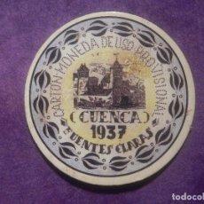 Sellos: CARTÓN MONEDA DE USO PROVISIONAL - CUENCA - FUENTES CLARAS - 1937 - 25 CTS REPÚBLICA ESPAÑOLA. Lote 67414769