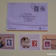 Sellos: LA ESPAÑA CONTEMPORÁNEA EN SELLOS DE CORREOS. ENTREGA Nº 1: 3 SELLOS (EL MUNDO, 2003) COLECCIONISTA. Lote 71463599