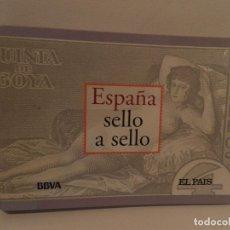 Sellos: ESPAÑA SELLO A SELLO COLECCIÓN COMPLETA LIMITADA FACSÍMIL 330 SELLOS NUMERADOS EL PAÍS 2003 CARPETA. Lote 71675427