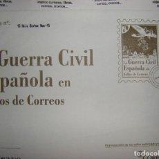 Briefmarken - LA GUERRA CIVIL ESPAÑOLA EN SELLOS DE CORREOS. entrega 15 hoja blq n 18 - 72270899