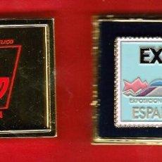 Sellos: PIN METALICO CONMEMORATIVO : EXPO SEVILLA 1992. PINTADO A MANO EDITADO POR CORREOS Y TELEGRAFOS 1992. Lote 74416587