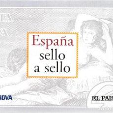 Sellos: ESPAÑA SELLO A SELLOS. CARPETA, 5 FICHAS INTRODUCTORIAS Y 5 SEPARADORAS. EL PAÍS.. Lote 82541656