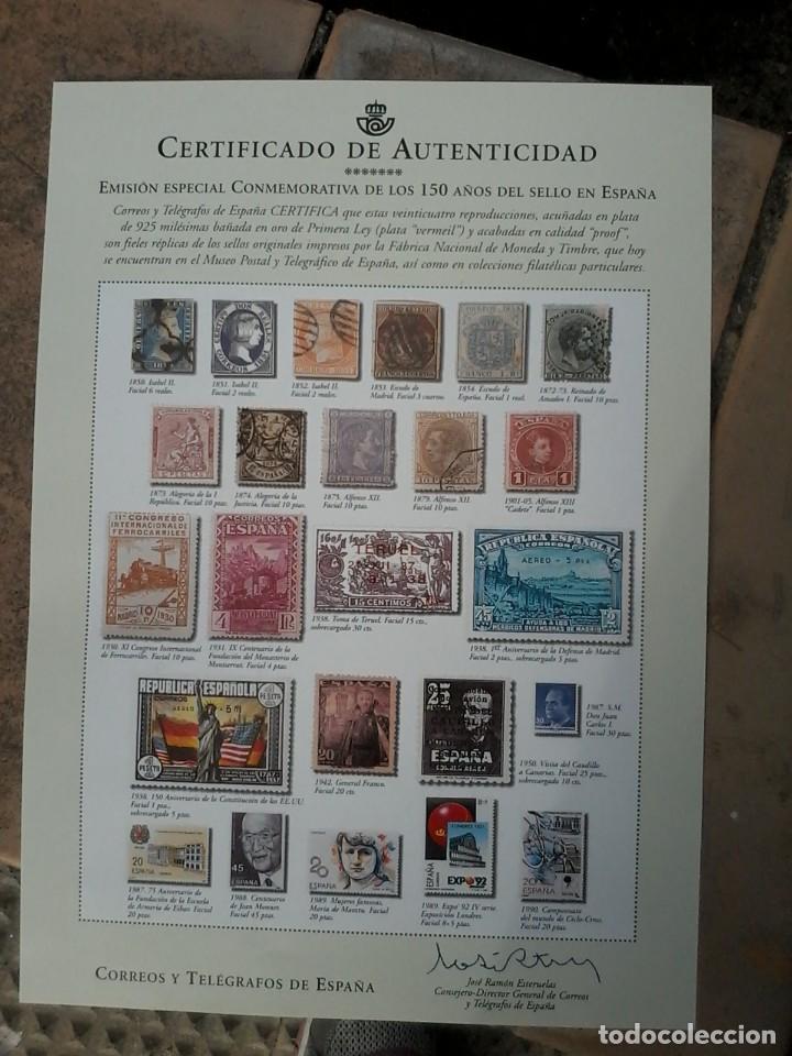 Coleccion 24 sellos de plata bañados en oro - Vendido en Venta ... 0799eea49e74