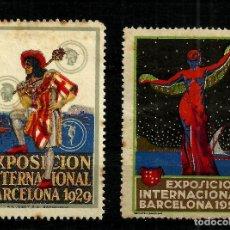 Sellos: SELLOS CONMEMORATIVOS EXPOSICIÓN INTERNACIONAL BARCELONA 1929. Lote 94287650