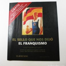 Sellos: EL FRANQUISMO EN SELLOS Y BILLETES EL MUNDO, PROGRAMA CON REPRODUCCION DE TODA LA COLECCION,24 PAG. Lote 94955555