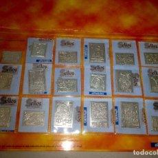 Sellos: COLECCION SELLOS DE ARAGON DE PLATA DE PRIMERA LEY 925. EDITA PERIODICO DE ARAGON .18 SELLOS. Lote 103669423