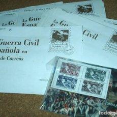 Sellos: LA GUERRA CIVIL ESPAÑOLA EN SELLOS DE CORREOS- LOTE DE 65 ENTREGAS SIN ABRIR- EL MUNDO. Lote 104286743