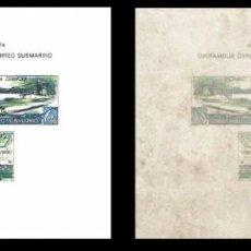 Timbres: ESPAÑA 1938 HOJA BLOQUE CORREO SUBMARINO, REPLICA. Lote 105246315