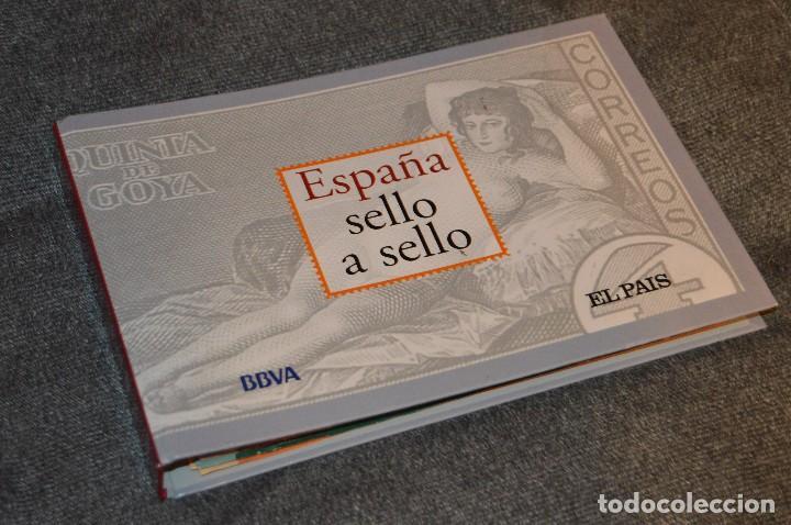 COLECCIÓN ESPAÑA SELLO A SELLO - EL PAÍS - BBVA - EN 66 HOJAS FILATÉLICAS - 330 SELLOS DE CORREOS (Filatelia - Sellos - Reproducciones)