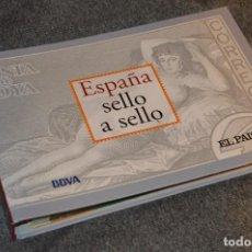 Sellos: COLECCIÓN ESPAÑA SELLO A SELLO - EL PAÍS - BBVA - EN 66 HOJAS FILATÉLICAS - 330 SELLOS DE CORREOS. Lote 107612223