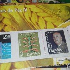 Sellos: SELLOS AUTORIZADOS CORREOS XXV AÑOS DE PAZ IV. Lote 108698303