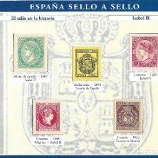 Sellos: == S12 - ESPAÑA SELLO A SELLO - COLECCIONABLE EL PAÍS - HOJA H-2. Lote 109083399