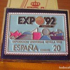 Sellos: PIN EX. 92. SEVILLA. Nº 1 Y Nº 2. LOTE DE 4. 2 Y 2. Lote 115729515