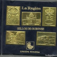 Sellos: CINCO SELLOS DE OURENSE EN METAL - UNION FENOSA. Lote 221525043