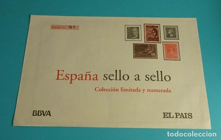 ENTREGA Nº 51. COLECCIÓN ESPAÑA SELLO A SELLO. BBVA - EL PAÍS (Filatelia - Sellos - Reproducciones)