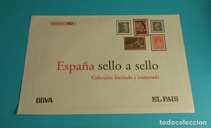ENTREGA Nº 50. COLECCIÓN ESPAÑA SELLO A SELLO. BBVA - EL PAÍS (Filatelia - Sellos - Reproducciones)