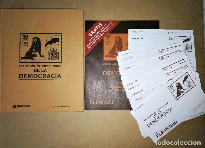 LIBRO CATALOGO GUIA SELLOS BILLETES E ICONOS DE LA DEMOCRACIA ( COMPLETO SOBRES SIN ABRIR ) (Filatelia - Sellos - Reproducciones)