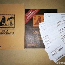 Sellos: LIBRO CATALOGO GUIA SELLOS BILLETES E ICONOS DE LA DEMOCRACIA ( COMPLETO SOBRES SIN ABRIR ). Lote 122231419