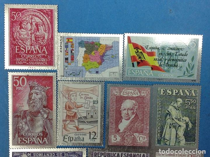 Sellos: 12 Sellos España En Metal - Foto 3 - 126583247