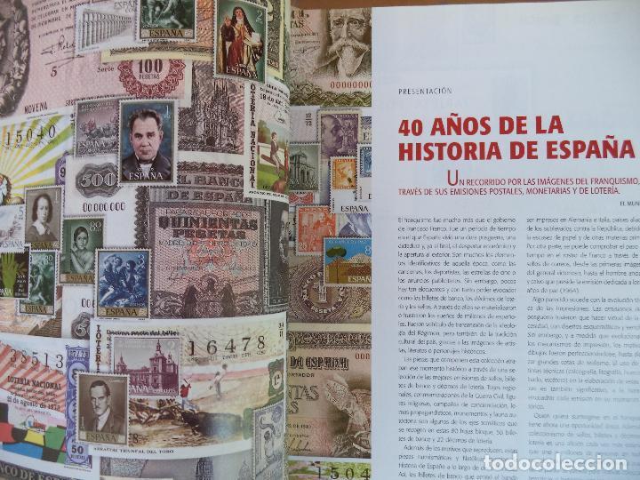 Sellos: EL FRANQUISMO EN SELLOS Y BILLETES.40 AÑOS DE HISTORIA DE ESPAÑA EN SELLOS PAPEL MONEDA Y DECIMOS DE - Foto 2 - 128701263