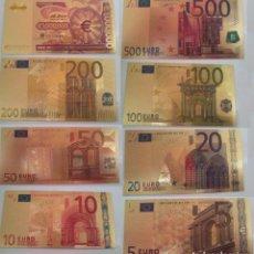 Sellos: BILLETES EUROS REPRODUCCION ORO 24K --UN BILLETE A ELIGIR 5,10,20,50,100,200,500,1 MILLON---. Lote 130498094