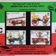 Sellos: REPRODUCCIÓN   RAC STAMP SHOW   BRIGHTON 1974. Lote 130634362