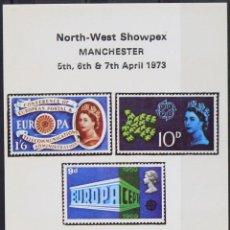 Sellos: REPRODUCCIÓN   NORTH WEST SHOWPEX   MANCHESTER 1973. Lote 130634550
