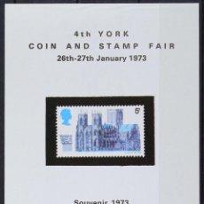 Sellos: REPRODUCCIÓN   HB SOUVENIR YORK COIN AND STAMP FAIR 1973. Lote 130635190