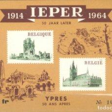 Sellos: REPRODUCCIÓN   BÉLGICA 1964 HB 50 ANIVERSARIO IEPER (YPRES). Lote 130699789
