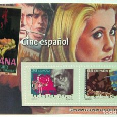 Sellos: HOJA SELLOS CINE ESPAÑOL TAMAÑO 16X10 CM. Lote 135011398