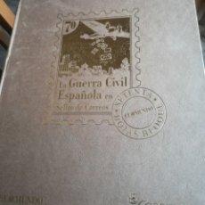 Sellos: LA GUERRA CIVIL ESPAÑOLA EN SELLOS DE CORREOS. 47 PÁGINAS EN FORMATO DE LUJO. COMPLETO. Lote 138061541