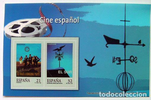 HOJA FILATELIA SELLOS CINE ESPAÑOL TAMAÑO 16X10 CM (Filatelia - Sellos - Reproducciones)