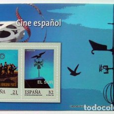 Sellos: HOJA FILATELIA SELLOS CINE ESPAÑOL TAMAÑO 16X10 CM. Lote 138138042
