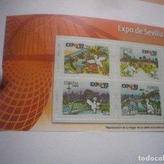 Francobolli: LOS SELLOS, BILLETES E ICONOS DE LA DEMOCRACIA EL MUNDO EXPO SEVILLA. Lote 141789758