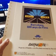 Briefmarken - Hojas Anillas para colección carteles del centenario de la Feria de Barcelona - 142345530
