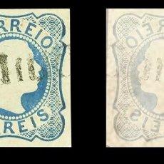Sellos: PORTUGAL AZORES. 1855. 25 REIS AZUL. SELLO DE PORTUGAL, REPLICA. Lote 142351850