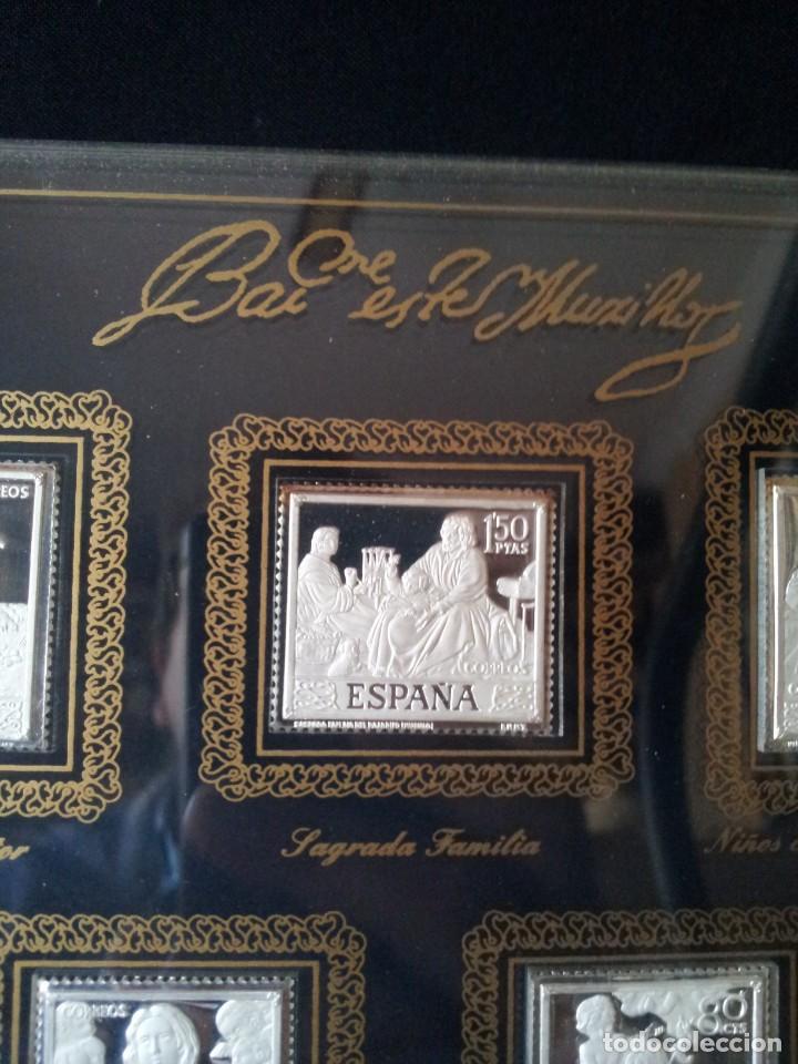 Sellos: SELLOS DE PLATA DE CUADROS DE MURILLO 1960 - ACUÑACIONES IBERICAS BARCELONA - Foto 3 - 143632394