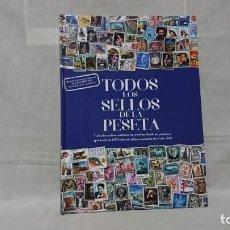 Sellos: TODOS LOS SELLOS DE LA PESETA, REPRODUCCIÓNES, INCOMPLETO, 9 LÁMINAS . Lote 147698686
