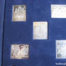 Sellos: LA PROVINCIA DE CADIZ SELLO A SELLO - SERIE DE PLATA - DIARIO DE JEREZ - 5 REPRODUCCIONES DE SELLOS . Lote 151703202