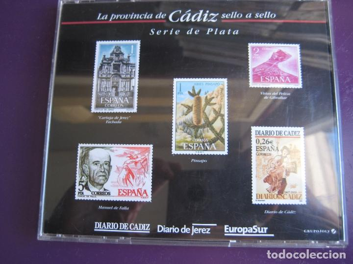 Sellos: LA PROVINCIA DE CADIZ SELLO A SELLO - SERIE DE PLATA - DIARIO DE JEREZ - 5 REPRODUCCIONES DE SELLOS - Foto 7 - 151703202