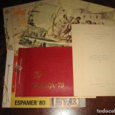 Sellos: DOCUMENTOS DE EXPOSICIONES HOJAS RECUERDO 1975/79/80/81/3/84. Lote 152089274