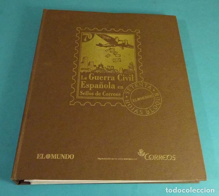 LA GUERRA CIVIL ESPAÑOLA EN 70 HOJAS BLOQUE. REPRODUCCIÓN AUTORIZADA POR CORREOS. FALTA LA HB Nº 18 (Filatelia - Sellos - Reproducciones)
